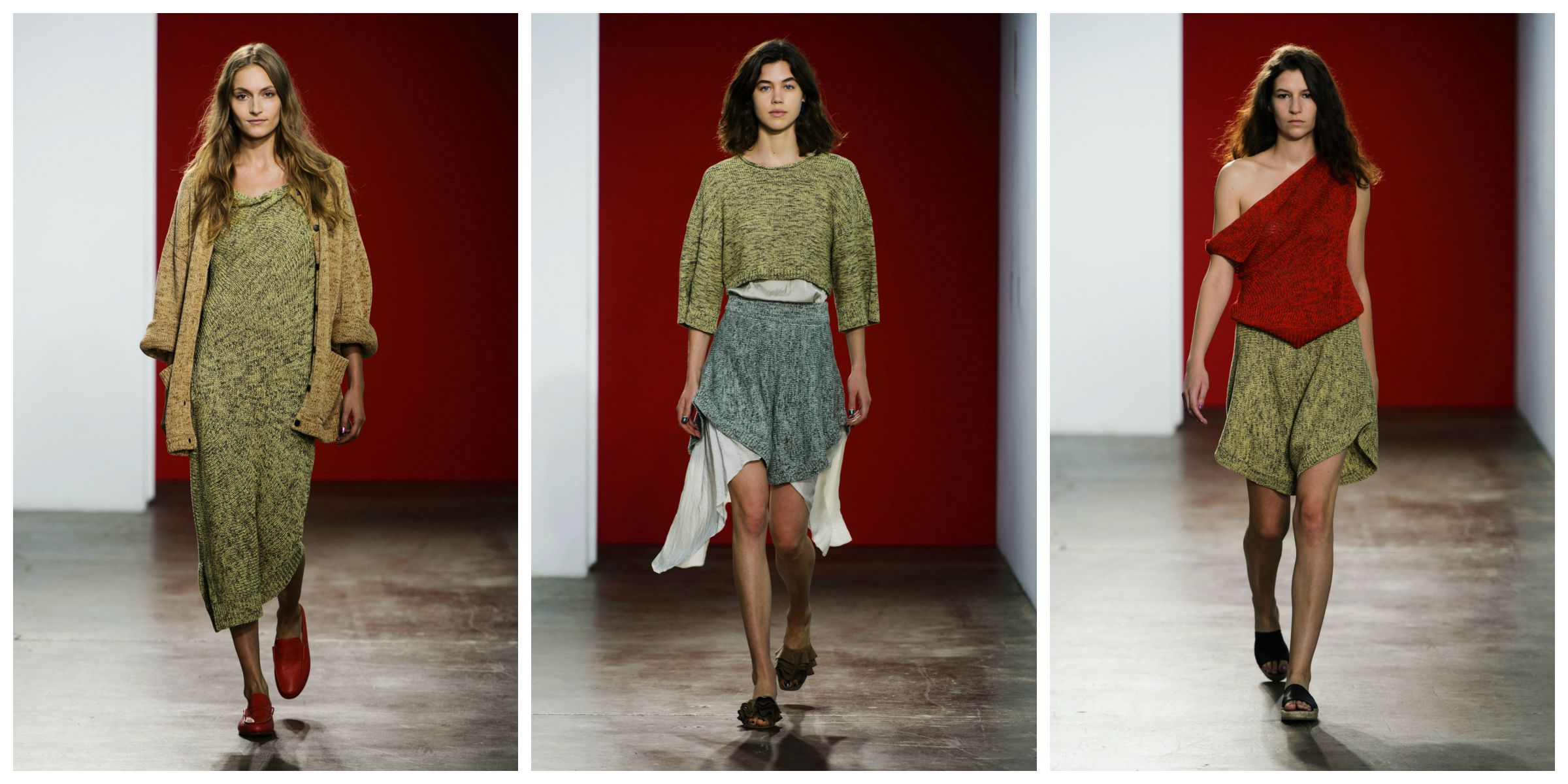 0b74ef8942 the military vibe is going nowhere for next spring/summer, and shades of  green are reigning supreme. the entire creatures of comfort show was  wonderful, ...