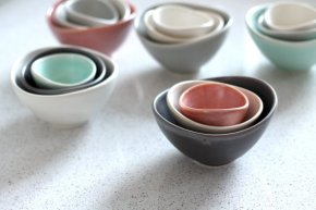 nesting bowls by fringe & fettle pottery.