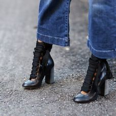chloe lace up boots via vogue