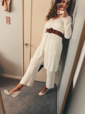 lemaire for uniqlo sweater & pants, celine shoes, vintage belt.
