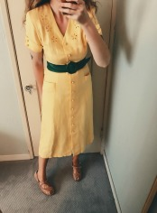 vintage dress & belt, thrifted shoes.