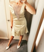 celine dress & shoes.