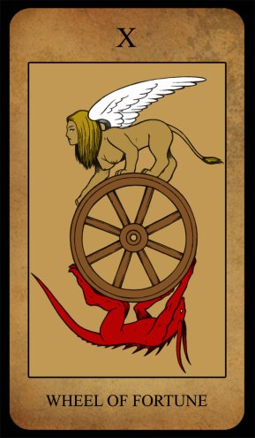 a. waite tarot wheel of fortune.