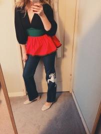 isa arfen top, vintage jeans, maryam nassir zadeh roberta heels.