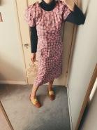 thrifted turtleneck, a detacher dress, jil sander shoes.