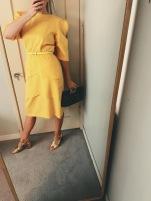 vintage dress, thrifted belt & bag, river island shoes.
