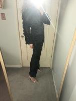 vintage pajamas, zara heels.