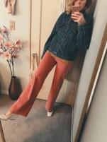 vintage levi's jacket, h&m turtleneck, mango corduroy pants, celine shoes.